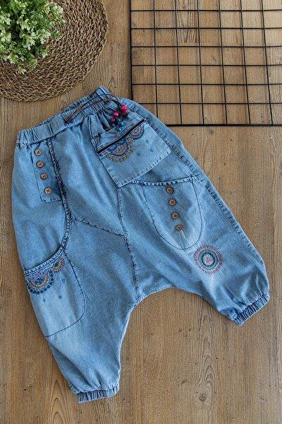 Kız Çocuk Kot Pantolon Çocuk Şalvar