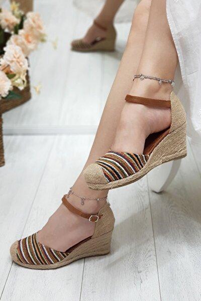 Julian Renkli, Hasır Dolgu Kadın Ayakkabısı