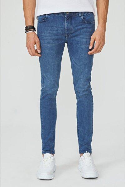 Erkek Mavi Skinny Fit Jean Pantolon A02y3589