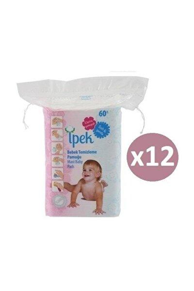 Ipek Maxi Pamuk Bebek Temizleme Pamuğu 60'lı * 12'li Paket