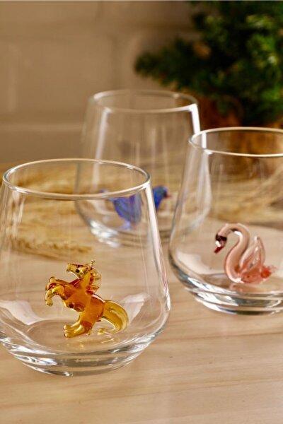 Hayvan Figürlü 6'lı Su Bardak Seti (Pastel Model )
