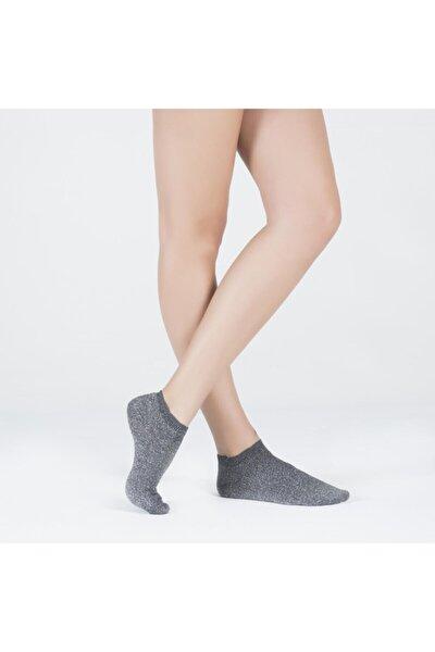 Shine Kadın Patik Çorap - Antrasit