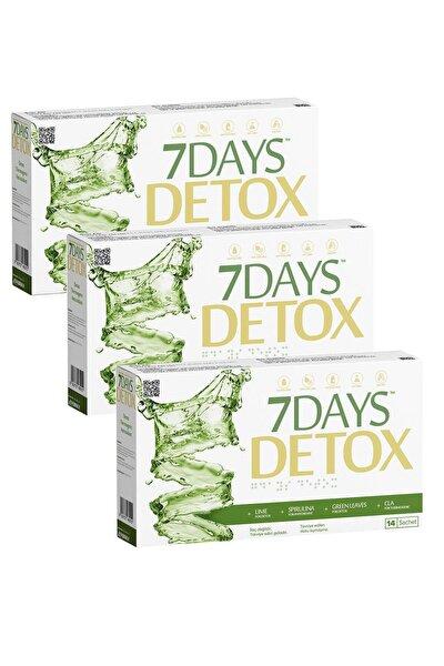 7 Days Detox - Spirulina Cla Yeşil Çay Ve Lime - 14 Saşe X 3 Kutu