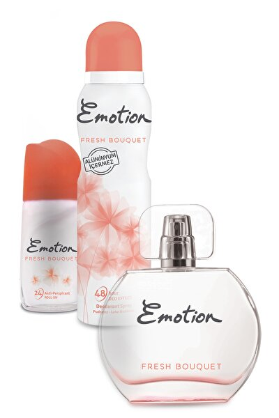 Fresh Bouquet Parfüm + Deodorant + Rollon Set