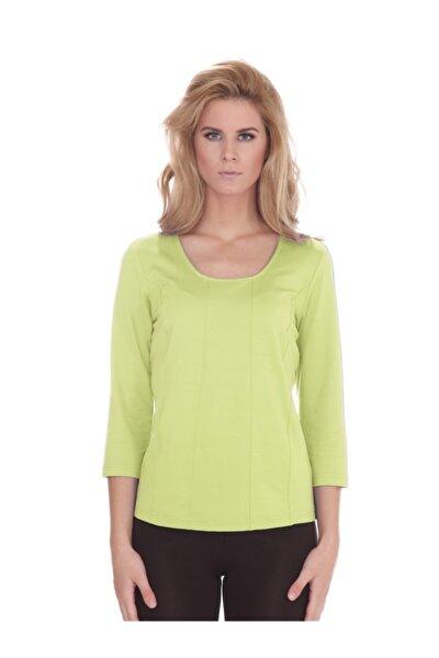 Kadın Fıstık Yeşili Basic T-shirt - Bga631882