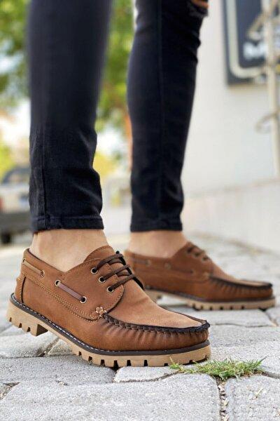 Bağcıklı Taba Klasik Ayakkabı