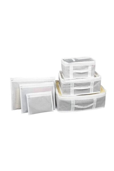 6'lı Set Bavul Içi Düzenleyici, Bavul Organizer, Valiz Düzenleyici