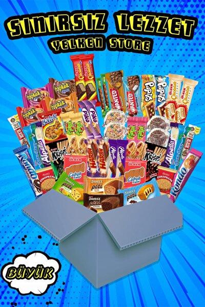 Sınırsız Lezzet Büyük Paket 47 Parça Çikolata Atıştırmalık Yelken Store Özel
