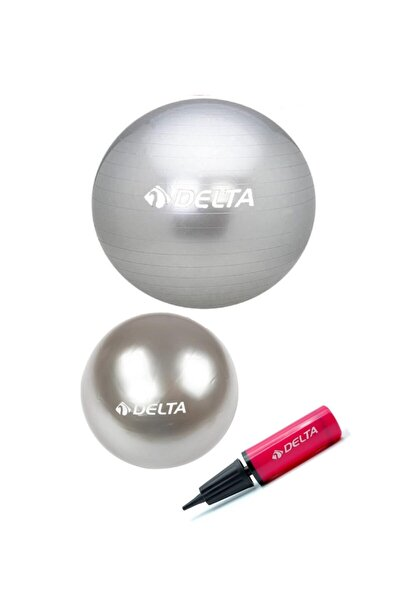 55 Cm Pilates Topu 25 Cm Mini Denge Topu Ve Pompası Seti