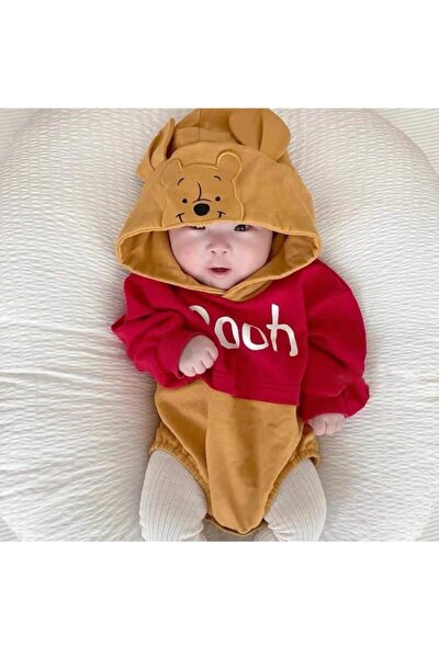 Bebek Kapşonlu Uzun Kol Badi