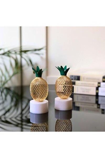 2 Adet Mini Ananas Gece Lambası