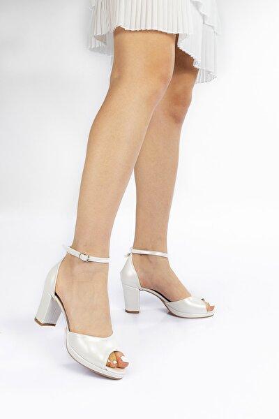 Kadın Sedef Cilt Topuklu Klasik Ayakkabı 914cnr