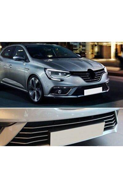 Renault Megane 4 Hb-sedan Krom Ön Tampon Çıtası 7 Prç 2017-2021