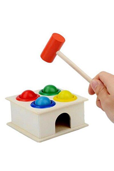 Ahşap Dikey Çekiç Kasa Kutusu Bebekler Için Eğitim ve Eğlence Set