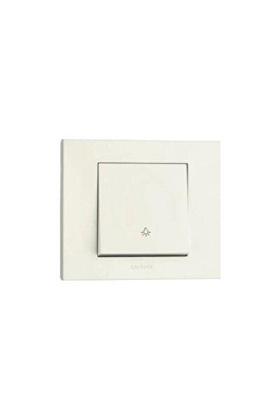 Grano Sıva Altı Light Anahtar Beyaz Mekanizma + Çerçeve