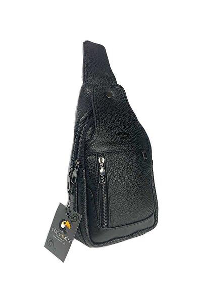 Erkek Siyah Çapraz Omuz Çantası Body Bag