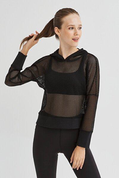 Siyah Fishnet Sweatshirt
