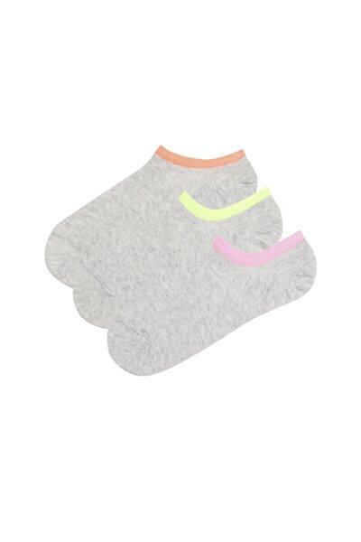 Gri Super Fit 3lu Babet Çorabı