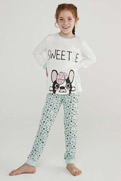 Çok Renkli Kız Çocuk Sweetıe Termal 2li Pijama Takımı