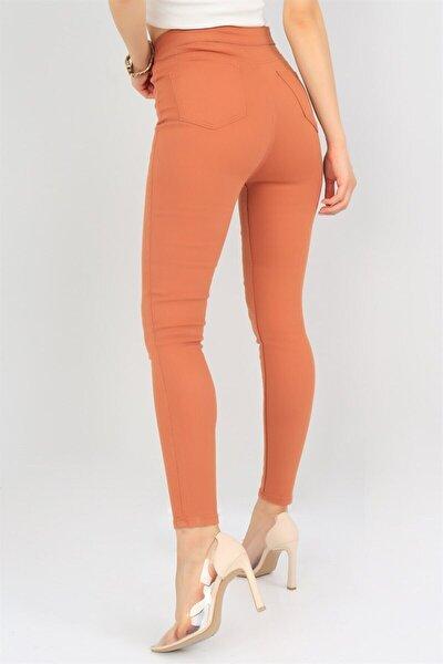 Trend Yüksek Bel Likralı Kadın Kot Pantolon