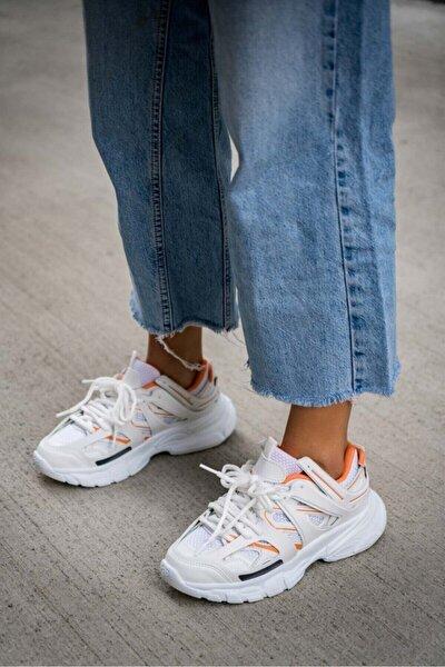 Vector Beyaz Turuncu Outdoor Ayakkabı
