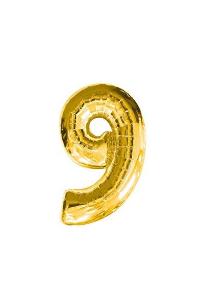 Dokuz Rakamı Altın Folyo Balon 16 Inch 40 Cm