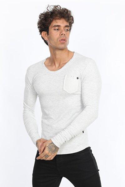 Karmelanj - Flamlı Hasır Cepli T-shirt