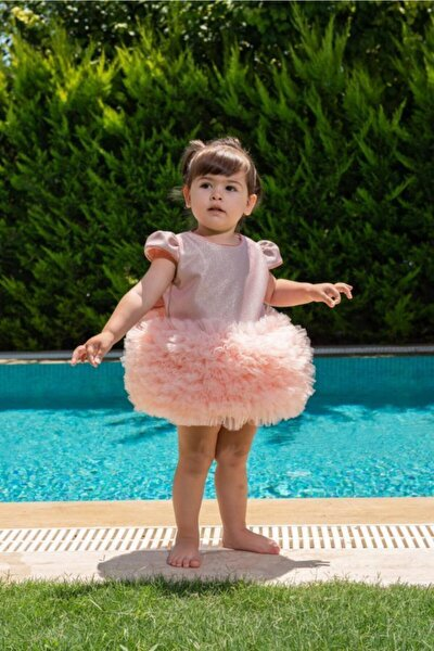Bebek Queen Peach Şeftali Tütü Elbise