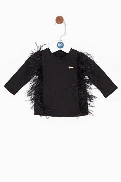 Kız Bebek Siyah T-shirt