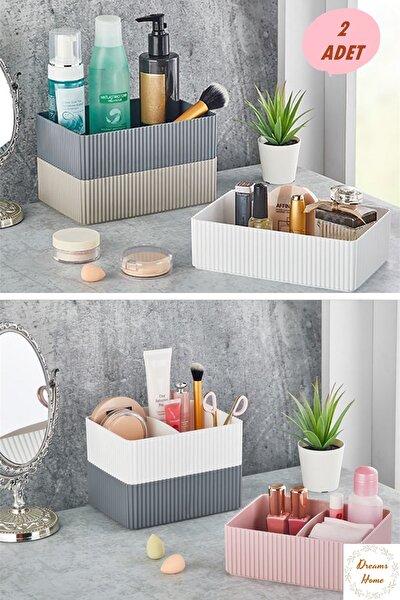 2 Adet Kutu Organizer Kat Kat Kulanılabilir Mutfak Kozmetik Banyo Organizer Lv 221