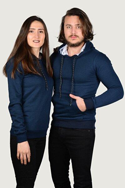 Lacivert Kapüşonlu Sweatshirt Sevgili Kombin Satış Fiyatı 1 Adet Fiyatıdır