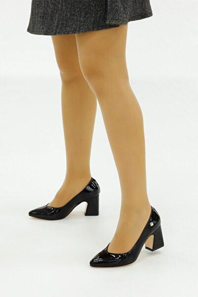 Kroko Rugan Deri Bayan Ayakkabı