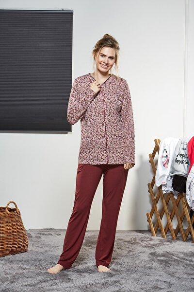Kadın Düğmeli Pijama Takımı 21132