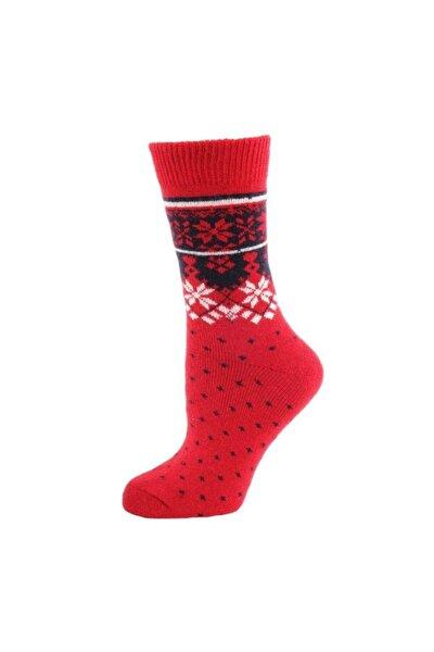 Casual Wool Socks Erkek Çorap Kırmızı