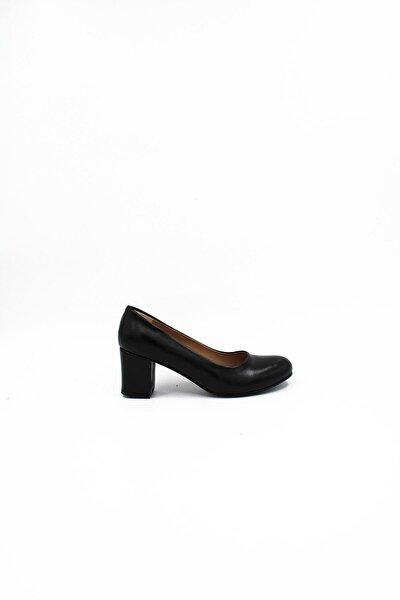 Kadın Yuvarlak Burun Topuklu Ayakkabı