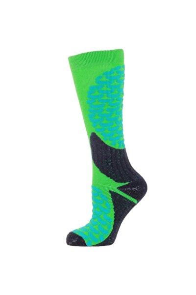 Ski Socks Erkek Kayak Çorap Yeşil/lacivert