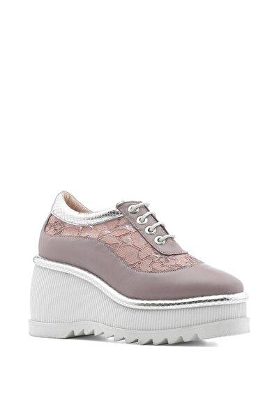 Septer Bayan Spor Ayakkabı Pudra Gümüş