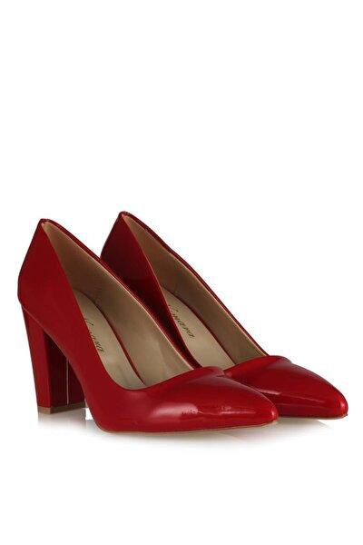 Kırmızı Rugan Kadın Stiletto 41-42-43-44 Büyük Numara