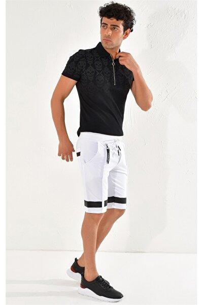025 Slim Fit Beyaz Bermuda