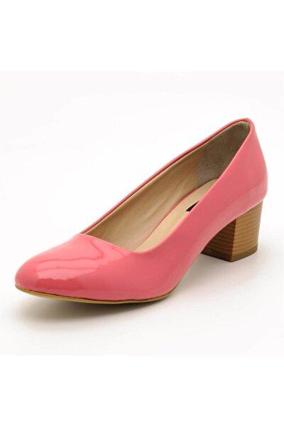 1453 Pembe Rugan Büyük Numara Bayan Ayakkabılar