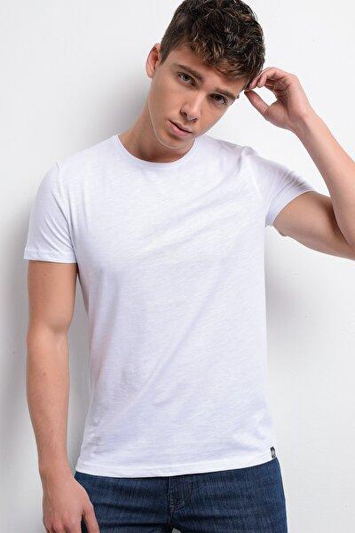 Rodi Rd19ye279975 Beyaz Erkek T-shirt Flamlı Süprem Bisiklet.yaka