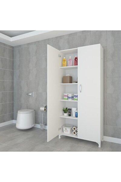Mutfak Dolabı Rabia 188*090*032 Byz Kapaklı Ayaklı Banyo Evrak Ofis Kitaplık Ayakkabılık Kiler