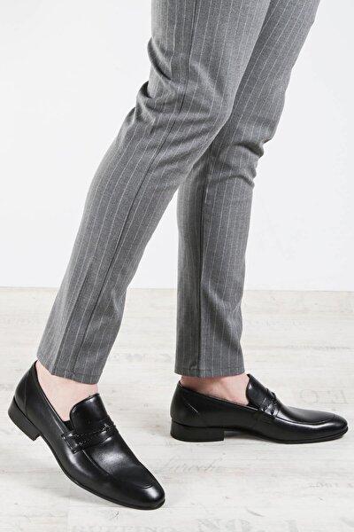 Hakiki Deri Siyah Erkek Klasik Ayakkabı 867ma94