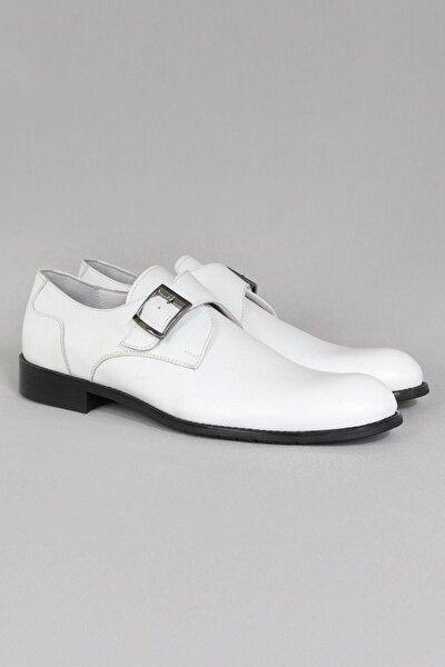 Hakiki Deri Erkek Klasik Ayakkabı Tek Tokalı Büyük Numara