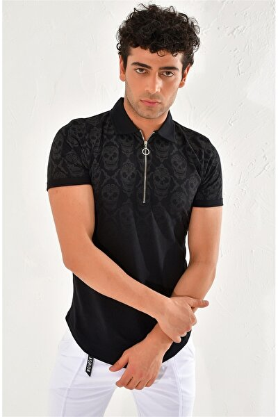 Ts 758 Slim Fit Siyah Spor T-shirt
