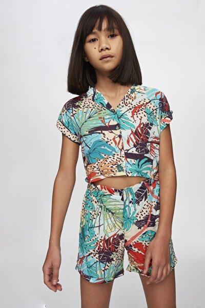 Kız Çocuk Desenli Gömlek