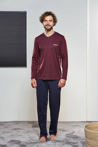 Erkek Düğmeli Pijama Takımı 21320