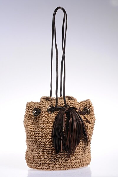 Luxury Sghsr1009 Camel Kadın Omuz Çantası
