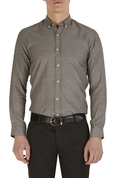 Gk 517 Slim Fit Siyah-beyaz Klasik Gömlek