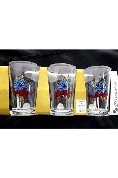 52052 Gül Desenli Su Bardağı 205 Cc 6 Lı